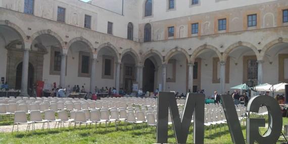 Il chiostro della galleria d'Arte Moderna di Palermo